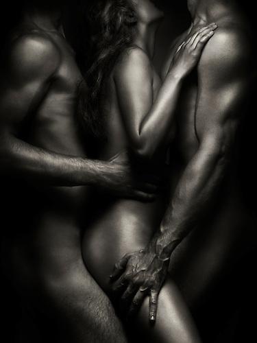 Think, that Black white threesome sex