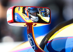March 10, 2017 - St. Petersburg, Florida, U.S. - DIRK SHADD   |   Times  .Pictured through his sideview mirror, IndyCar driver Alexander Rossi int he cockpit of his car before the IndyCar practice session on the opening day of the Firestone Grand Prix of St. Petersburg. (Credit Image: © Dirk Shadd/Tampa Bay Times via ZUMA Wire)