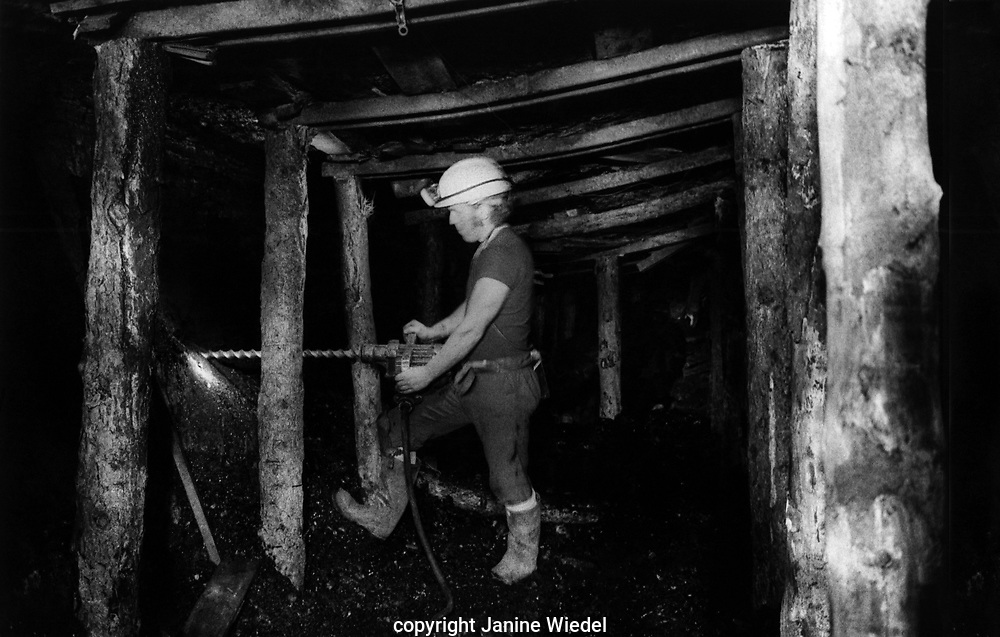At the face down small independent drift mine or Footeral near Stoke on Trent Staffordshire
