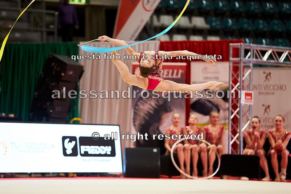 Sara Rocca from Raffaello Motto team during the Italian Rhythmic Gymnastics Championship in Bologna, 9 February 2019.