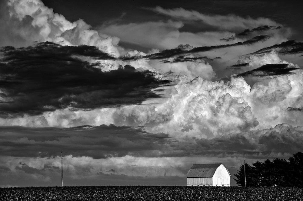 Cloud landscape near Brimfield, Illinois.