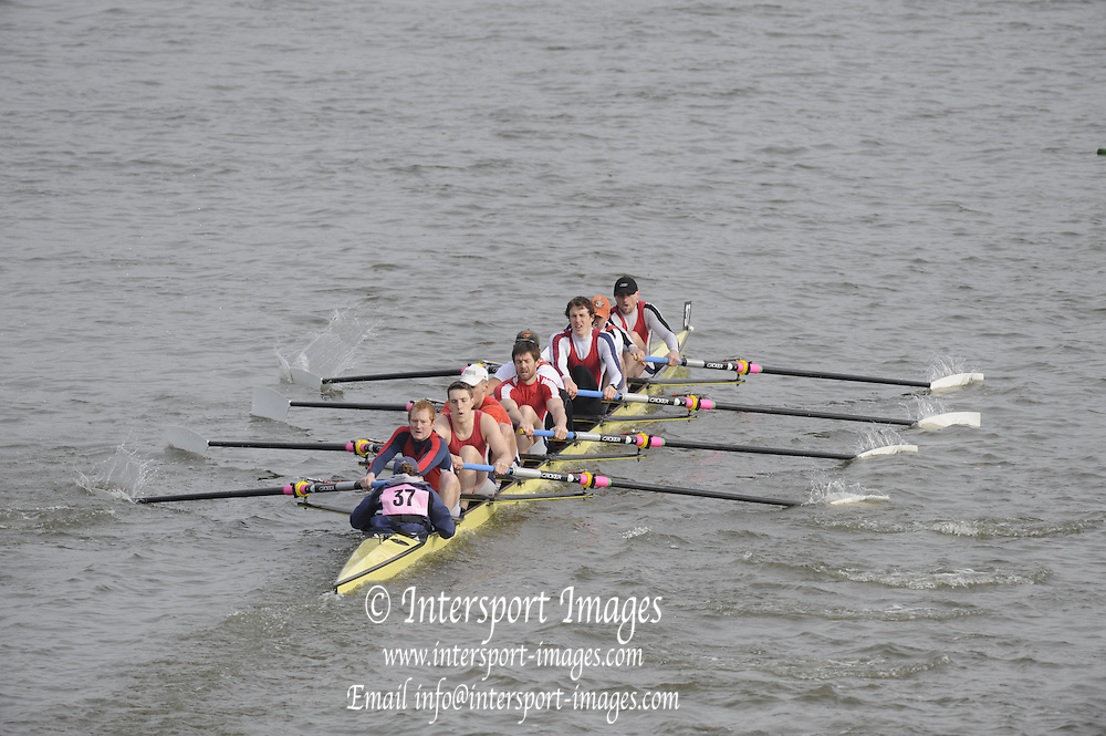 Putney/Barnes,  Great Britain, Agecroft 1 -  2008 Head of the River Race. Raced from Mortlake to Putney, over the Championship Course.  15/03/2008  [Mandatory Credit. Peter Spurrier/Intersport Images] Rowing Course: River Thames, Championship course, Putney to Mortlake 4.25 Miles,
