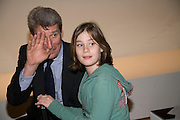 JEREMY PAXMAN AND HIS DAUGHTER VITA, MA-08 In the Parallel. London College of Fashion  GRADUATE SHOW 2008 , Royal Academy of Arts <br />Thursday 17 January -DO NOT ARCHIVE-© Copyright Photograph by Dafydd Jones. 248 Clapham Rd. London SW9 0PZ. Tel 0207 820 0771. www.dafjones.com.