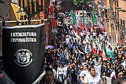 A parade through the historic district during Mexican Independence Day celebrations September 16, 2017 in San Miguel de Allende, Mexico.
