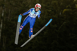 Eva Pinkelnig of Austria soaring through the air during 1st Round at Day 1 of World Cup Ski Jumping Ladies Ljubno 2019, on February 8, 2019 in Ljubno ob Savinji, Slovenia. Photo by Matic Ritonja / Sportida