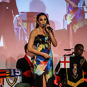The Brewery,,London,England,UK.21th April 2017. SINGER Laura Wright preforms at the Pride of St George at The Brewery. by See Li