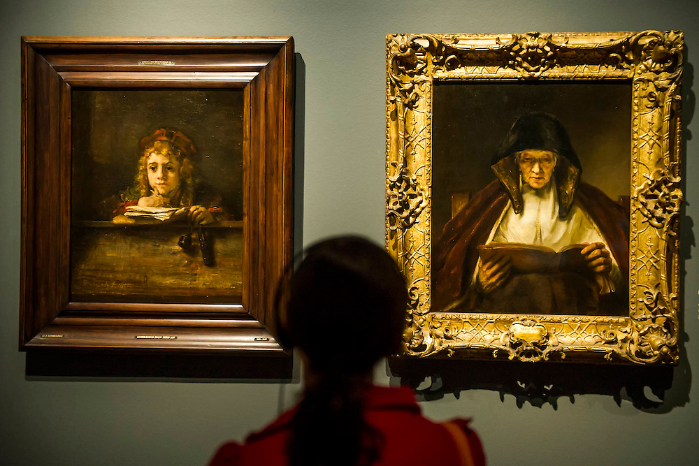 Titus at his desk and Old Woman Reading - Rembrandt: The Late Works, a new  exhibition sponsored by Shell - the first ever in-depth exploration of Rembrandt's final years of painting. It features 'unprecedented' loans from around the world and is an opportunity to experience the 'passion, emotion and innovation' of the great master of the Dutch Golden Age.  The exhibition runs from 15 October 2014 - 18 January 2015