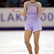Sarah Hughes wins gold in womens figure skating Feb. 22, 2002 at Salt Lake City Winter Olmpics. August Miller