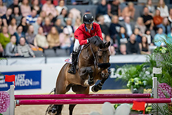 MADDEN Elizabeth (USA), Breitling LS <br /> Göteborg - Gothenburg Horse Show 2019 <br /> Longines FEI World Cup™ Jumping Final III<br /> Int. jumping competition over two rounds not against the clock with jump-off in case of point egality (1.50 - 1.60 m)<br /> Longines FEI Jumping World Cup™ Final and FEI Dressage World Cup™ Final<br /> 06. April 2019<br /> © www.sportfotos-lafrentz.de/Stefan Lafrentz
