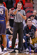 LOUISVILLE, KY - DECEMBER 15: NCAA basketball official Jeb Hartness is seen during the Louisville Cardinals and Kent State Golden Flashes game at KFC YUM! Center on December 15, 2018 in Louisville, Kentucky. (Photo by Michael Hickey/Getty Images) *** Local Caption *** Jeb Hartness