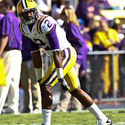 November 6, 2010; Baton Rouge, LA, USA; LSU Tigers wide receiver Rueben Randle (2) on the field prior to kickoff of a game against the Alabama Crimson Tide at Tiger Stadium.  Mandatory Credit: Derick E. Hingle