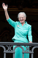 Balcony appearance at Amalienborg Palace for Queen Margrethe 75th birthday
