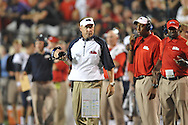 Mississippi Coach Hugh Freeze vs. Vanderbilt in Nashville, Tenn. on Thursday, August 29, 2013.