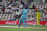 Jason Roy batting during the ICC Cricket World Cup 2019 warm up match between England and Australia at the Ageas Bowl, Southampton, United Kingdom on 25 May 2019.