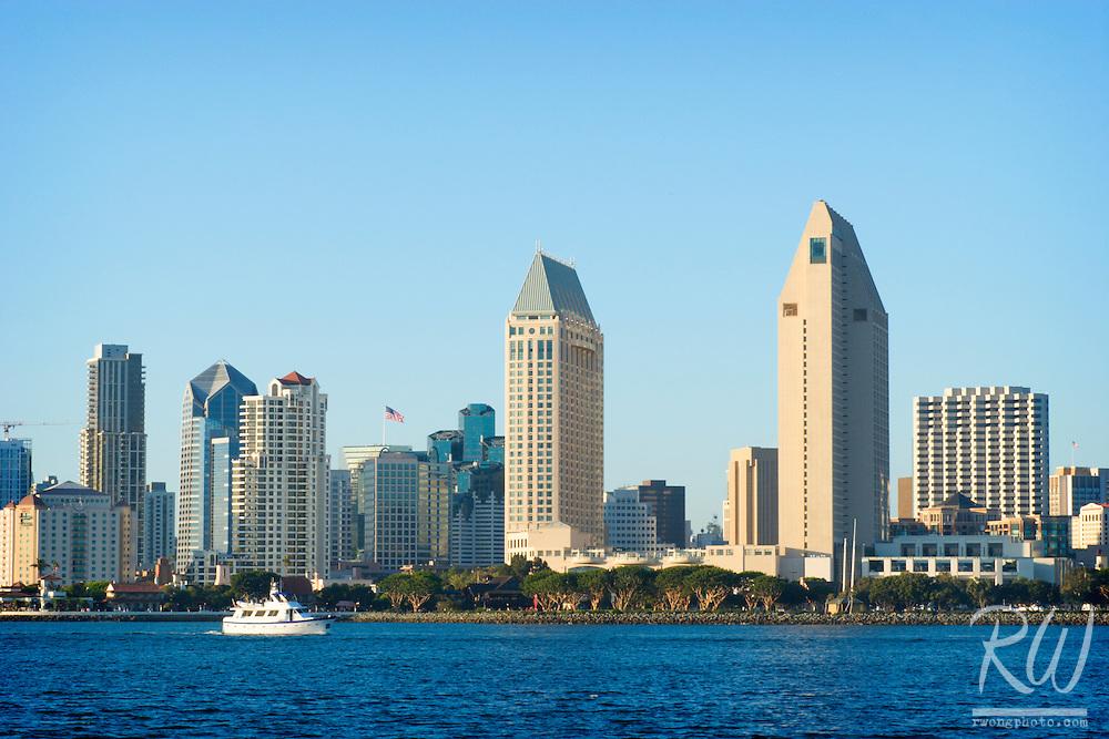 Downtown San Diego Skyscrapers, Coronado Island, California