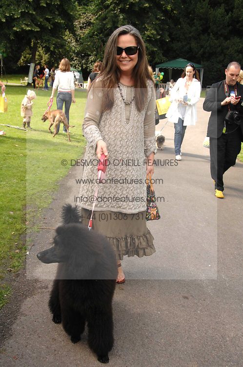 KOO STARK and Dolly the dog at Macmillan Dog Day in aid of Macmillan Cancer Support, held at Royal Hospital Chelsea, London on 3rd July 2007.<br /><br />NON EXCLUSIVE - WORLD RIGHTS