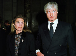 PRINCE & PRINCESS NICHOLAS VON PREUSSEN at a party in London on 25th November 1997.MDR 64