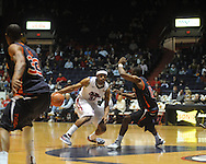 Ole Miss' Zach Graham (32) vs. Auburn's DeWayne Reed (12) in Oxford, Miss. on Wednesday, February 24, 2010. Ole Miss won 85-75.
