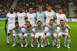 18.08.2010, Red Bull Arena, Salzburg, AUT, UEFA CL, Red Bull Salzburg vs Hapoel Tel Aviv, im Bild Text, Sekagya Ibrahim, Kapitaen, Red Bull Salzburg, Afolabi Rabiu, Red Bull Salzburg, Pokrivac Nikola, Red Bull Salzburg, Gerhard Tremmel, Tormann, Red Bull Salzburg, Antonio Joaquin Boghossian, Red Bull Salzburg, Schiemer Franz, Red Bull Salzburg, Gonzalo Zarate, Red Bull Salzburg, Svento Dusan, Red Bull Salzburg, Leitgeb Christoph, Red Bull Salzburg, Schwegler Christian, Red Bull Salzburg, Jakob Jantscher, Red Bull Salzburg, Pictures © 2010, PhotoCredit: EXPA/ D. Scharinger / SPORTIDA PHOTO AGENCY