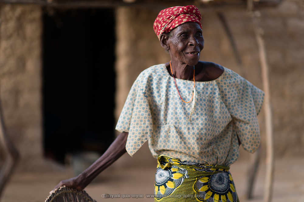 Raga Djibril, who estimates her age at about 50, at her home in the village of Gadirga in the Commune of Soukoukoutan in the Dosso Region of Niger on 23 July 2013.