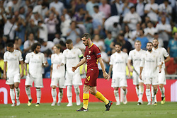 Alessandro Florenzi of AS Roma during the UEFA Champions League group G match between Real Madrid and AS Roma at the Santiago Bernabeu stadium on September 19, 2018 in Madrid, Spain