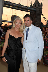 The Johnnie Walker Blue Label and David Gandy Drinks Reception aboard John Walker & Sons Voyager, St.Georges Stairs Tier, Butler's Wharf Pier, London, UK on 16th July 2013.<br /> Picture Shows:-Tamara Beckwith and Edward Taylor.
