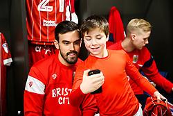 Marlon Pack of Bristol City looks on during the Mascot dressing room visit - Rogan/JMP - 27/01/2018 - Ashton Gate Stadium - Bristol, England - Bristol City v Queens Park Rangers - Sky Bet Championship.