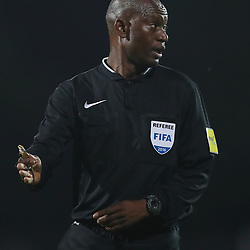 Referee Mr Victor Hlungwani during the 2016 Premier Soccer League match between Maritzburg Utd and Polokwane City held at the Harry Gwala Stadium in Pietermaritzburg, South Africa on the 27th September 2016<br /> <br /> Photo by:   Steve Haag / Real Time Images