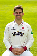 County Championship kit portrait of Johann Myburgh during the Somerset County Cricket Club PhotoCall 2017 at the Cooper Associates County Ground, Taunton, United Kingdom on 5 April 2017. Photo by Graham Hunt.