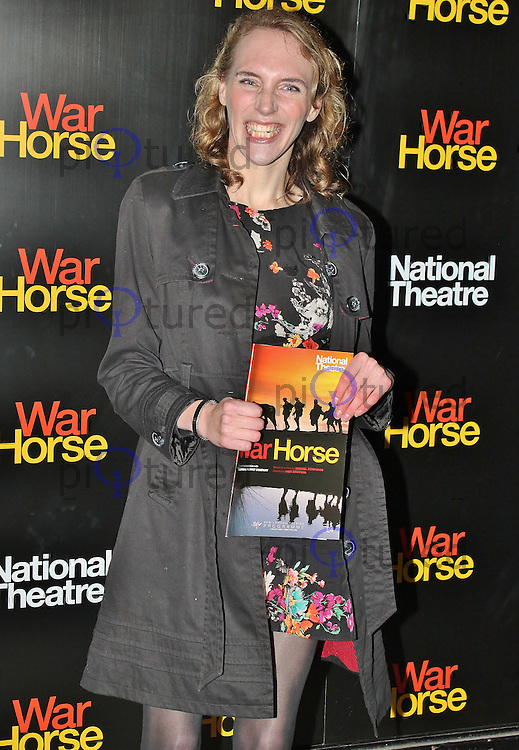 LONDON - October 25: Sophie Christiansen at the War Horse 5th Anniversary Performance (Photo by Brett D. Cove)
