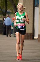 Virgin Money London Marathon 2015<br /> <br /> Helen George-UK (One of the stars of the the Midwives) one of the celebrities  competing in the IVirgin Money London Marathon<br /> <br /> Photo: Bob Martin for Virgin Money London Marathon<br /> <br /> This photograph is supplied free to use by London Marathon/Virgin Money.
