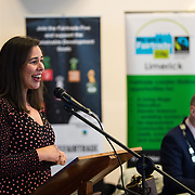 05/03/2019<br /> Pictured is Nadia Sakni from Limerick City and County Council.<br /> <br /> Fairtrade worker Sara Montoya, from a Fairtrade Coffee Co-op in Colombia was the special guest in Limerick City and County Council chamber today at an event to coincide with Fairtrade Fortnight.<br />  <br /> Sara joined Fairtrade supporters from across Limerick and Ireland for the annual initiative, which features a programme of talks and community events aimed at promoting awareness of Fairtrade and Fairtrade-certified products.<br />  <br /> Speaking at the event in Dooradoyle, Sara outlined the success and benefits of the Fairtrade movement in Colombia and how important it is for people in the developed world think of Fairtrade products when shopping.<br />  <br /> This year's campaign 'Create Fairtrade' invites us all to use our imagination and create fairtrade in our lives.<br />  <br /> Young people from across Limerick city and county were also a focus of the event as they displayed their posters, which they created to help change the way people think about trade and the products on our shelves.<br /> Photo by Diarmuid Greene