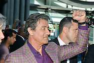 Sylvester Stallone in the Modern Museum in Nice for the inauguration of his painting exhibition.<br />  Cannes, May 16, 2015