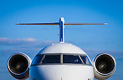 A Bombardier Challenger 605 on the ramp at Kalamazoo International Airport, Michigan.  Created by aviation photographer John Slemp of Aerographs Aviation Photography. Clients include Goodyear Aviation Tires, Phillips 66 Aviation Fuels, Smithsonian Air & Space magazine, and The Lindbergh Foundation.  Specialising in high end commercial aviation photography and the supply of aviation stock photography for commercial and marketing use.