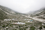 INDIA, GANGOTRY JUNE 2015;<br /> Gangotri Glacier is one of the primary sources of the Ganges and it is one of the largest in the Himalayas with an estimated volume of over 27 cubic kilometers. The terminus of the Gangotri Glacier is said to resemble a cow's mouth, and the place is called Gomukh.<br /> The Gangotri glacier is a traditional Hindu pilgrimage site. Devout Hindus consider bathing in the icy waters near Gangotri town to be a holy ritual, and many made the trek to Gomukh. The Gangotri glacier is rapidly disintegrating, states the latest observation of a team from the Almora-based G.B. Pant Institute of Himalayan Environment and Development.<br /> The team of the institute, which has been monitoring the Himalayan glaciers, particularly the Gangotri, since 1999, visited the glacier between June and October, this year. Kireet Kumar, Scientist in the Glacial Study Centre of the institute, said, &ldquo;Our team has been observing disintegration in the snout of the Gangotri glacier for around three year now &ldquo;<br /> A 2008 research report stated: &ldquo; The Gangotri glacier is retreating like other glaciers in the Himalayas and its volume and size are shrinking as well &rdquo;<br /> The glacier has retreated more than 1,500 meters in the last 70 years.<br />@Giulio Di Sturco