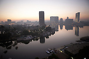 Cairo and the Nile River at dawn, Egypt