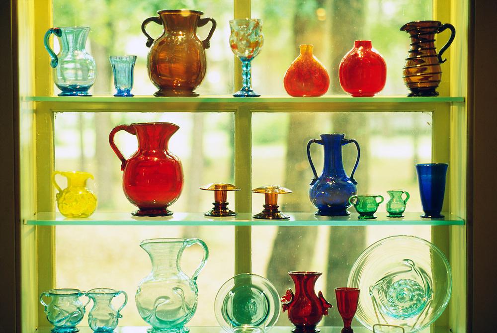 Glass in Museum of American Glass, Wheaton Village, NJ