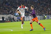 Depay Memphis of Lyon and John Stones of Manchester City during the UEFA Champions league, Group F football match between Olympique Lyonnais and Manchester City on November 27, 2018 at Groupama stadium in Decines-Charpieu near Lyon, France - Photo Romain Biard / Isports / ProSportsImages / DPPI
