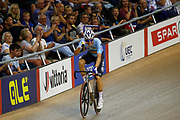 Men Madison, Robbie Ghys (Belgium) during the Track Cycling European Championships Glasgow 2018, at Sir Chris Hoy Velodrome, in Glasgow, Great Britain, Day 5, on August 6, 2018 - Photo luca Bettini / BettiniPhoto / ProSportsImages / DPPI<br /> - Restriction / Netherlands out, Belgium out, Spain out, Italy out -