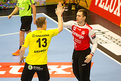 Klemen Ferlin of RK Gorenje Velenje during handball match between RK Gorenje Velenje and Kadetten Schaffhausen in VELUX EHF Champions League, on November 25, 2017 in Rdeca Dvorana, Velenje, Slovenia. Photo by Ziga Zupan / Sportida