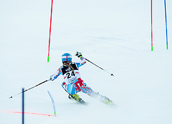"""Mougel Laurie (FRA) competes during FIS Alpine Ski World Cup 2014/15 5th Ladies' Slalom race named """"Snow Queen Trophy 2015"""", on January 4, 2015 in Course Crveni Spust at Sljeme hill, Zagreb, Croatia.  Photo by Vid Ponikvar / Sportida"""