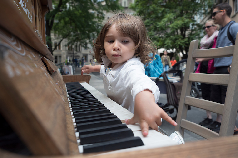 Piano en vieille ville. .Fête de la musique 2015