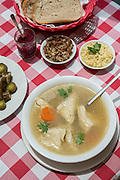 Jewish Chicken Soup with Kreplach (Dumplings filled with ground meat)