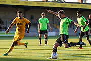 Forest Green Rovers Dayle Grubb(8) prepares to shoot at goal during the Pre-Season Friendly match between Torquay United and Forest Green Rovers at Plainmoor, Torquay, England on 10 July 2018. Picture by Shane Healey.