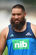 Charlie Faumuina during a Blues Super Rugby pre season training session at Alexandra Park in Auckland, New Zealand. Tuesday 2 February 2016. Copyright Photo: Andrew Cornaga / www.Photosport.nz