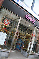 Game store on Dawson Street Dublin Ireland after it closed following the computer games group collapsed into administration