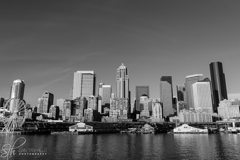 Seattle skyline as seen from across Puget Sound - WA