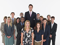 Group of businesspeople man standing taller
