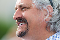 Derby 142 hopeful Gun Runner and Creator's trainer Steve Asmussen spoke to the media after training, Monday, May 02, 2016 at Churchill Downs in Louisville.