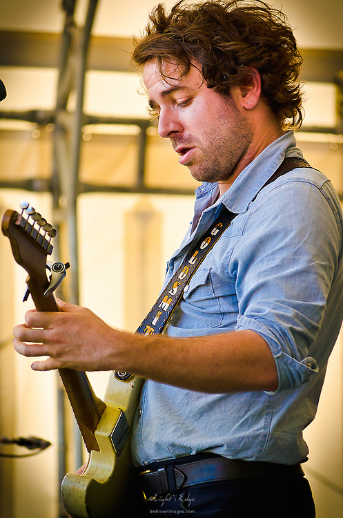 Taylor Goldsmith of Dawes at the 2012 Appel Farm Arts & Music Festival.
